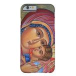 Gloria a Jesús y al Virgen María bendecido Funda De iPhone 6 Barely There