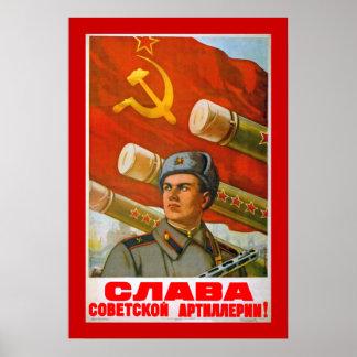 Gloria a la artillería soviética póster