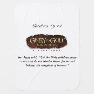 Gloria a la manta del bebé de dios mantitas para bebé
