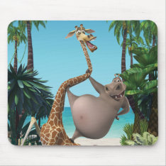 Gloria And Melman Friends Mouse Pad at Zazzle