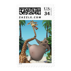 Gloria And Melman Friends Postage at Zazzle