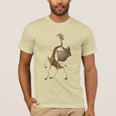 Gloria And Melman Friends T-shirt at Zazzle