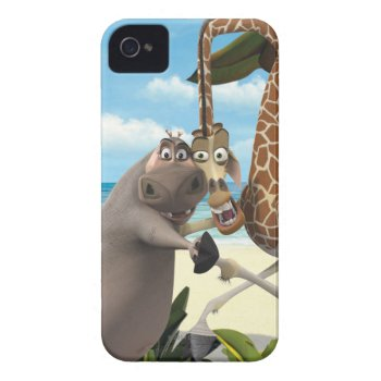 Gloria And Melman Hand Holding Iphone 4 Case by madagascar at Zazzle