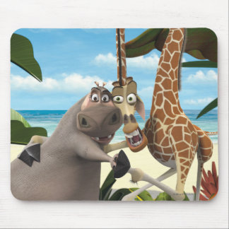 Gloria and Melman Hand Holding Mouse Pad