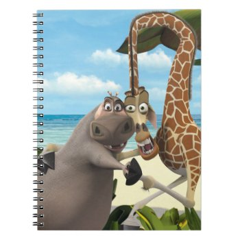 Gloria And Melman Hand Holding Notebook by madagascar at Zazzle
