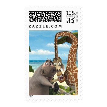 Gloria And Melman Hand Holding Postage by madagascar at Zazzle