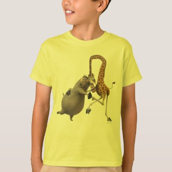 Gloria And Melman Hand Holding T-shirt by madagascar at Zazzle