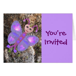Gloria Butterfly, You're Invited Greeting Cards