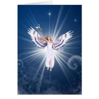 Gloria Christmas Angel Greeting Card