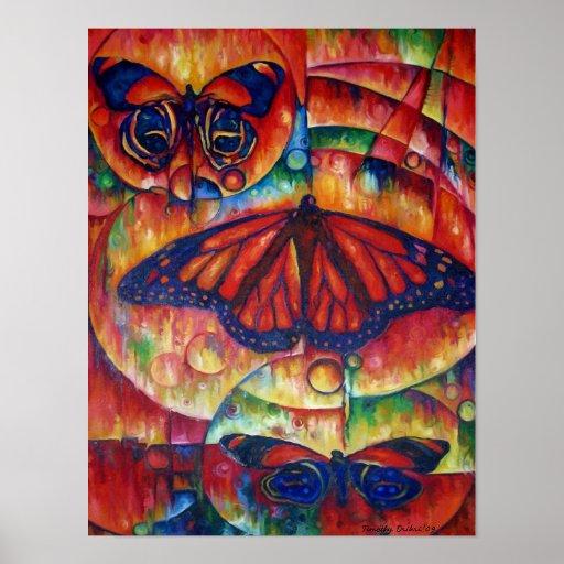 Gloria de la mariposa - impresión de la lona poster