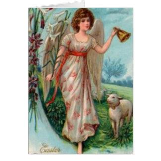 Gloria de la tarjeta de pascua del cordero