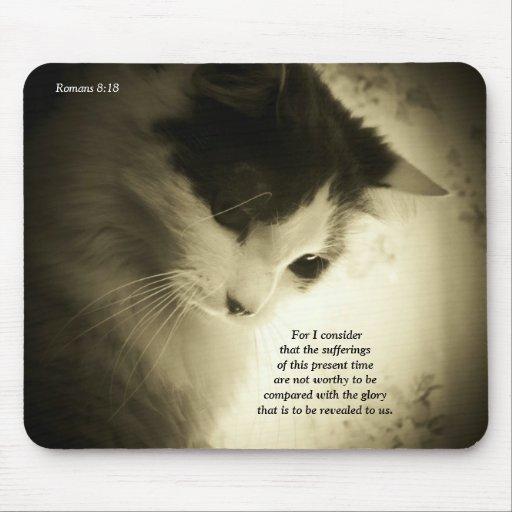 Gloria del 8:18 de los romanos mouse pad