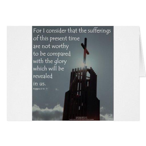 Gloria del 8:18 de los romanos que se revelará tarjeton