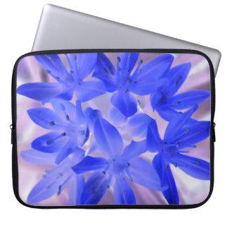 Gloria del bolso azul impactante del ordenador por fundas portátiles