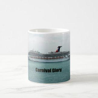 Gloria del carnaval taza básica blanca