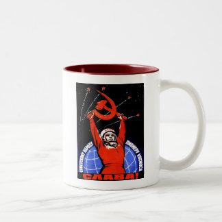 Gloria del espacio taza de café
