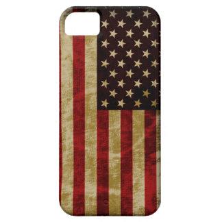 Gloria del estilo del Grunge vieja de la bandera iPhone 5 Case-Mate Funda