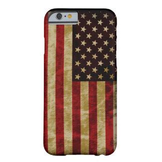 Gloria del estilo del Grunge vieja de la bandera Funda De iPhone 6 Barely There