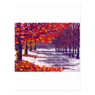 Gloria del otoño tarjeta postal