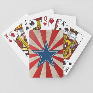 Gloria envejecida - rojo, blanco y azul baraja de póquer