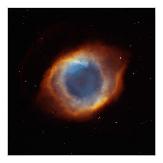 Gloria iridiscente de la nebulosa próxima de la hé poster