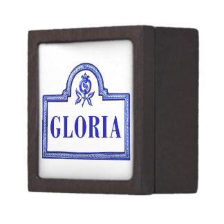 Gloria placa de calle de Granada