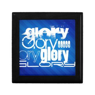 Gloria; Rayas azules reales Cajas De Recuerdo