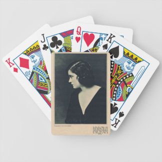 Gloria Swanson 1920 portrait silent movie actress Bicycle Playing Cards