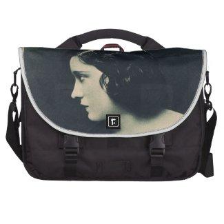 Gloria Swanson 1920 portrait silent movie actress Bag For Laptop
