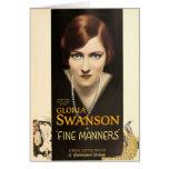 Gloria Swanson 1926 silent movie exhibitor ad Greeting Card