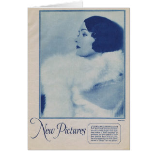 Gloria Swanson 1927 vintage portrait Greeting Cards