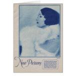 Gloria Swanson 1927 vintage portrait Greeting Card
