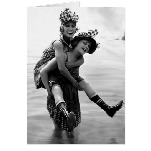 Gloria Swanson and Phyllis Haver Greeting Card