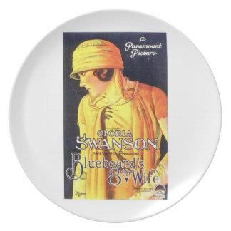Gloria Swanson Bluebeard's 8th Wife 1923 film Melamine Plate