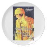 Gloria Swanson Bluebeard's 8th Wife 1923 film Dinner Plate