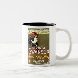 Gloria Swanson Her Love Story movie poster Two-Tone Coffee Mug