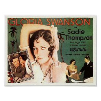"Gloria Swanson in ""Sadie Thompson"" Poster"