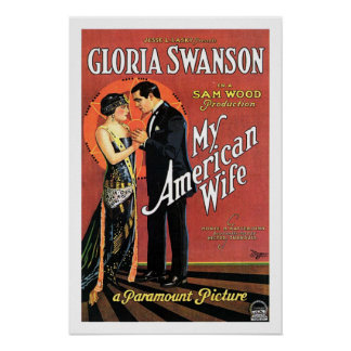 Gloria Swanson My American Wife Movie Poster