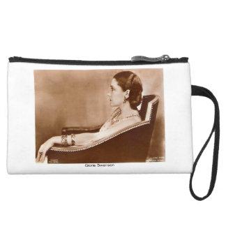 Gloria Swanson portrait silent movie actress Wristlet Purse
