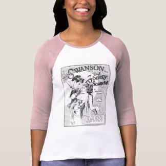 Gloria Swanson Society Scandal movie ad T-shirts