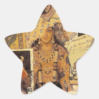 Glorias indias pegatina en forma de estrella