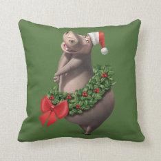 Gloria's Wreath Throw Pillow at Zazzle