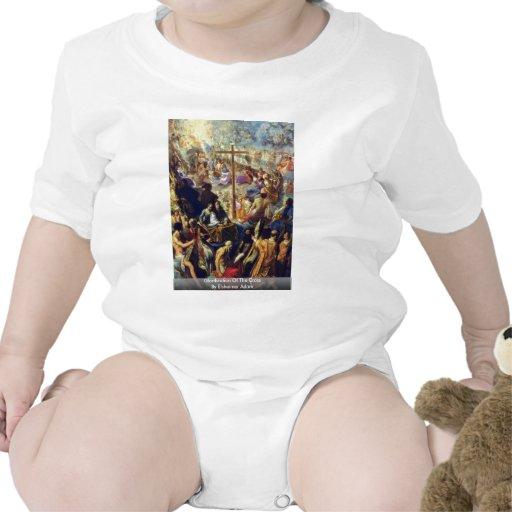 Glorificación de la cruz de Elsheimer Adán Traje De Bebé