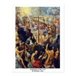 Glorificación de la cruz de Elsheimer Adán Postal