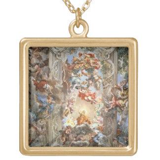 Glorificación del reinado de papa Urbano VIII (156 Colgante Cuadrado