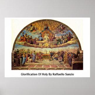Glorification Of Holy By Raffaello Sanzio Poster