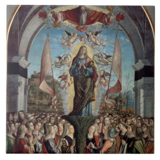 Glorification of St. Ursula and her Companions Large Square Tile
