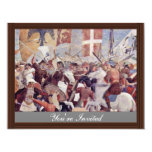 "Glorification Of The Holy Cross After His Return 4.25"" X 5.5"" Invitation Card"