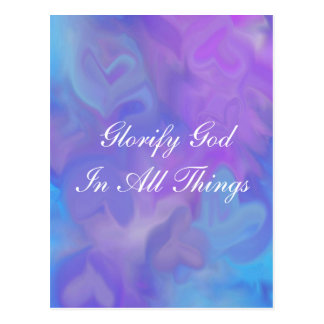 Glorify God In All Things Card