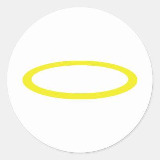 gloriole icon classic round sticker